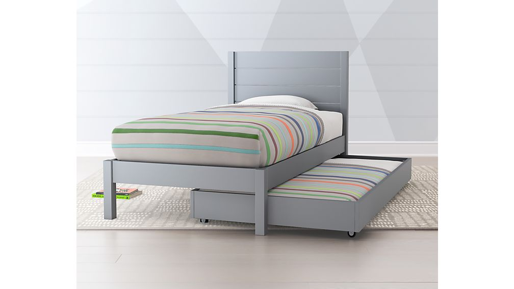Trundle Bed.Grey Trundle Bed