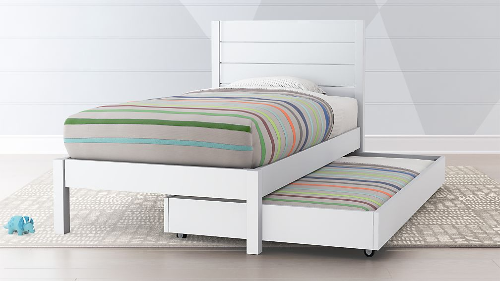 Trundle Bed.Parke White Trundle Bed