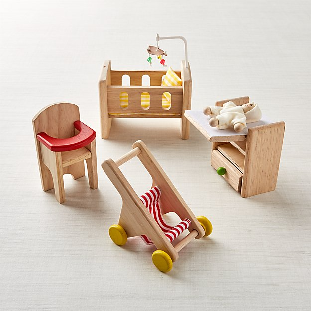 Plan Toys Nursery Dollhouse Furniture Reviews Crate And Barrel