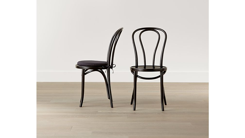 Vienna Black Wood Dining Chair Crate and Barrel
