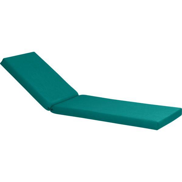 Valencia Sunbrella ® Harbor Blue Chaise Lounge Cushion