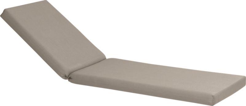 Add extra comfort to Valencia chaise lounge with fade-, water- and mildew-resistant Sunbrella® acrylic cushion in deep harbor blue. Fabric tab fasteners hold cushion in place.<br /><br /><NEWTAG/><ul><li>Fade- and mildew-resistant Sunbrella acrylic</li><li>Polyurethane foam cushion fill</li><li>Fabric tab fasteners</li><li>Spot clean</li><li>Made in USA</li></ul>
