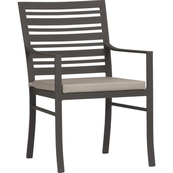 Valencia Dining Chair with Sunbrella ® Stone Cushion