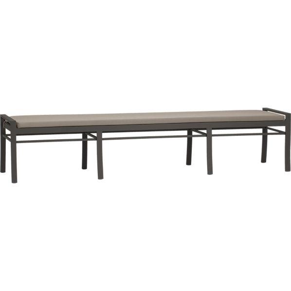 Valencia Large Dining Bench with Sunbrella ® Stone Cushion