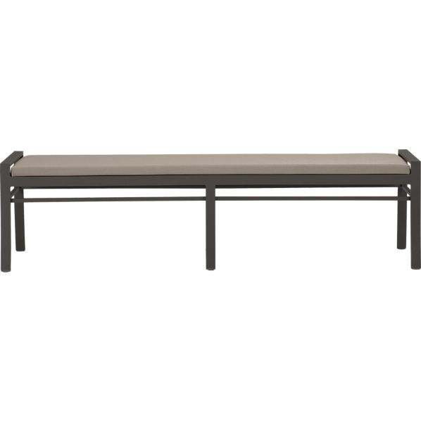 Valencia Small Dining Bench with Sunbrella ® Stone Cushion