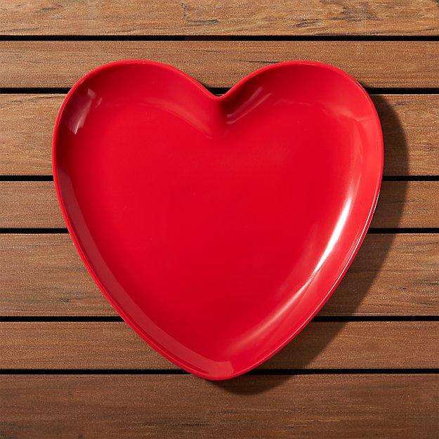 Valentine Heart Melamine Plate