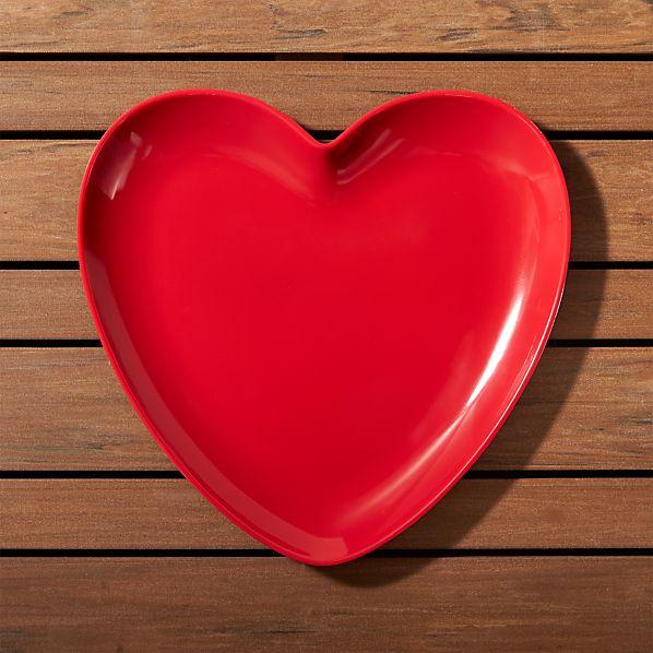 ValentineHeartPlate9inSHS17