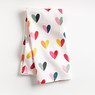 Valentine Hearts Dish Towel