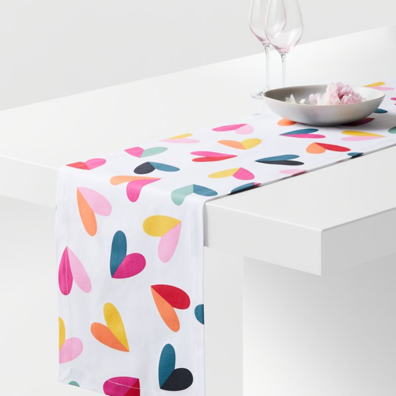 Valentine Hearts Table Runner + Reviews | Crate and Barrel