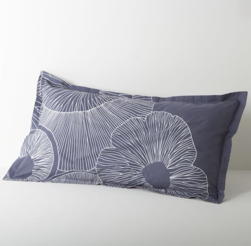 """Erja Hirvi's 2008 design takes a look at the underside of mushroom (""""Valmuska"""") caps in a graceful pattern of overlapping, organically shaped circles filled with delicate tracings of mushroom gills. Bed pillows also available.<br /><br /><NEWTAG/><ul><li>Pattern designed by Erja Hirvi; 2008</li><li>100% cotton</li><li>300-thread-count</li><li>Machine wash cold, tumble dry low; warm iron as needed</li></ul>"""