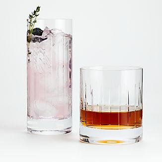 Vance Cut-Glass Drinking Glasses