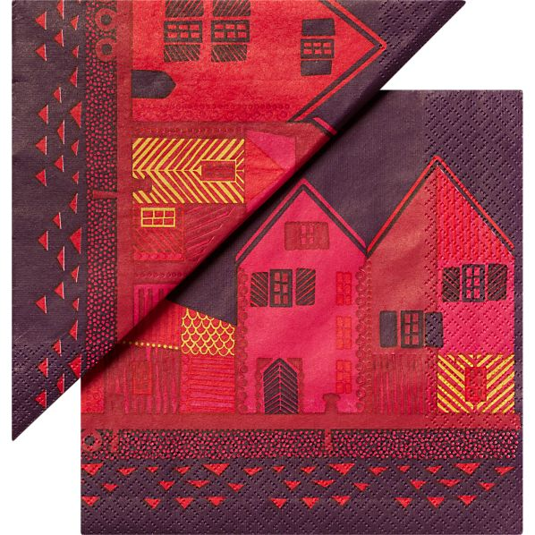 "Set of 20 Marimekko Vanhakaupunki Paper 6.5"" Napkins"