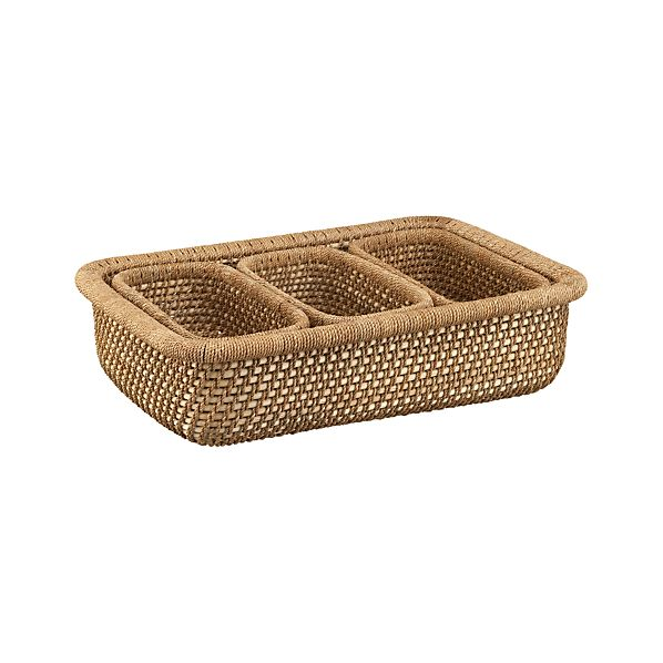 Set of 4 Vanju Low Baskets
