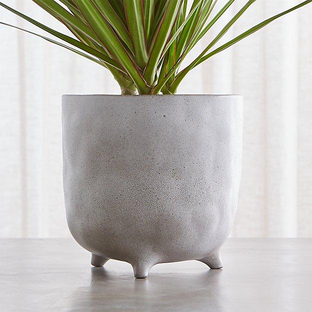 vaquita large grey footed planter reviews crate and barrel. Black Bedroom Furniture Sets. Home Design Ideas