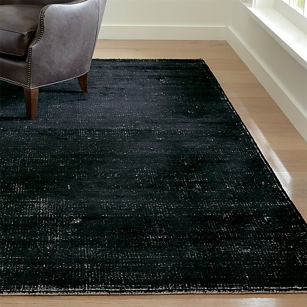 Vaughn Modern Black Rug Crate And Barrel