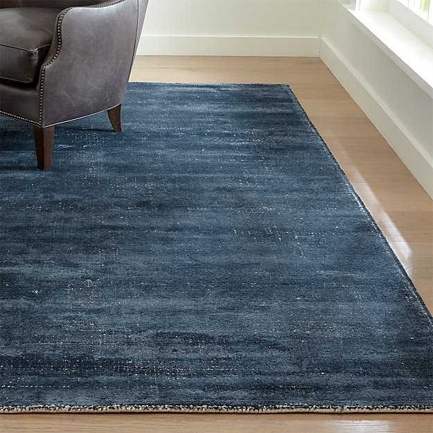 Vaughn Modern Blue Rug Crate And Barrel
