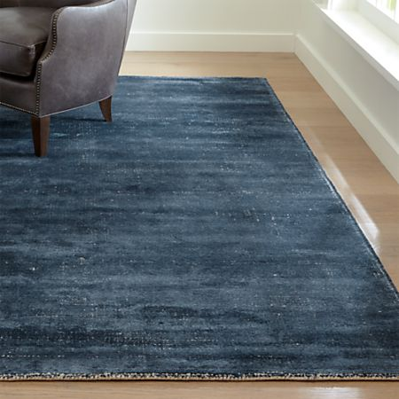 Vaughn Modern Blue Rug Crate And