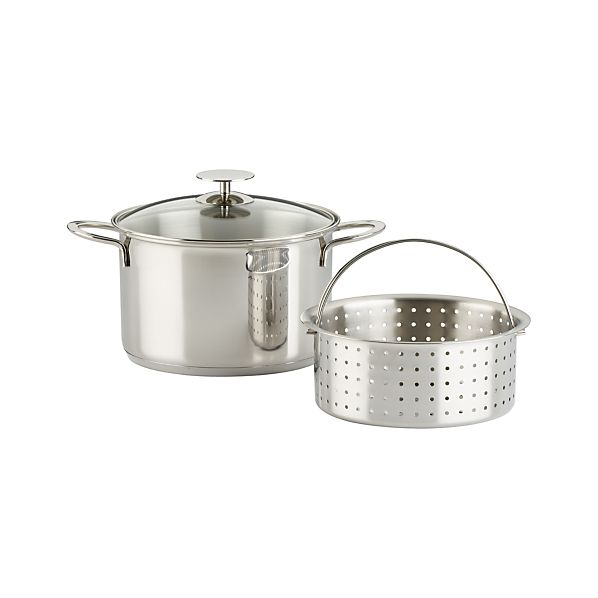 Essentials Stainless Steel Vegetable Steamer