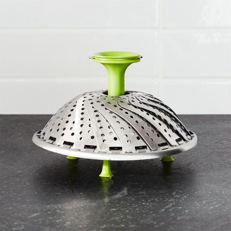 Stainless Steel Vegetable Steamer With Silicone Feet