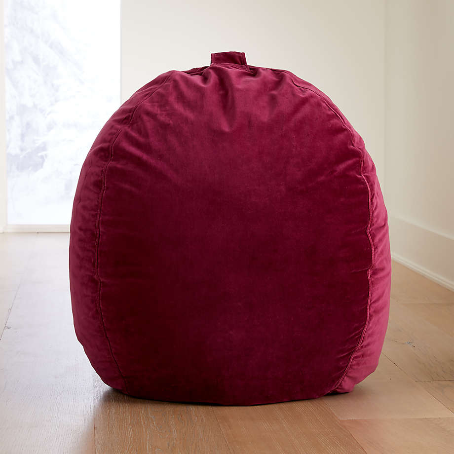 Large Pink Velvet Bean Bag Chair Cover + Reviews | Crate ...