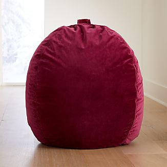 Large Pink Velvet Bean Bag Chair