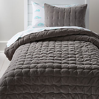 Velvet Dark Grey Bedding