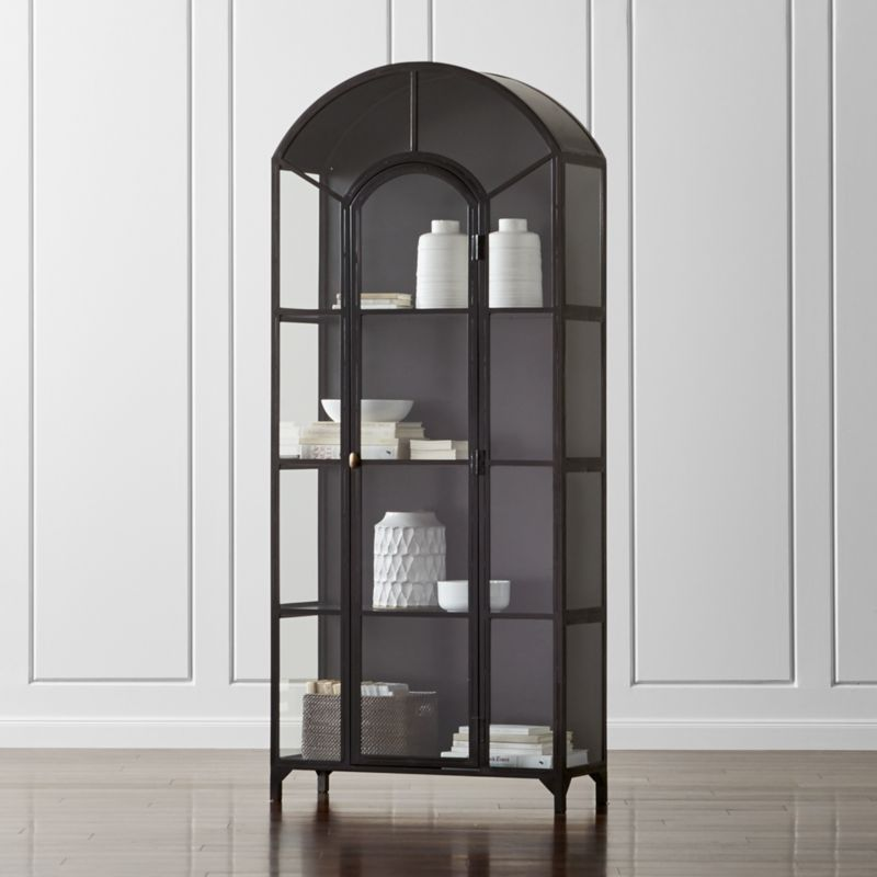 Metal and glass bookcase Tall Glass Save 10 Crate And Barrel Ventana Glass Display Cabinet Reviews Crate And Barrel