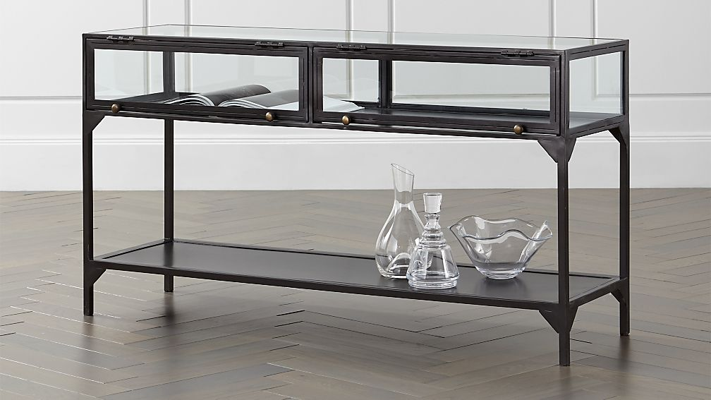 Ventana Display Console Table Reviews Crate And Barrel
