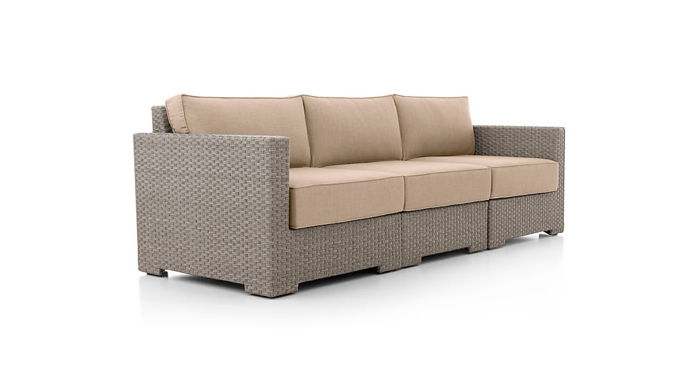 Ventura Quartz 3-Piece Sectional with Sunbrella ® Cushions