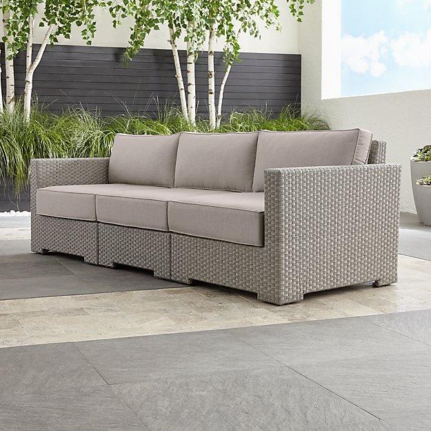 Ventura Quartz 3-Piece Sectional with Sunbrella ® Cushions