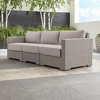 Ventura Quartz 3-Piece Sectional with Silver Sunbrella ® Cushions