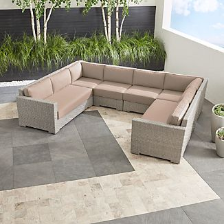 Ventura Quartz 6-Piece Loveseat Sectional with Sunbrella ® Cushions