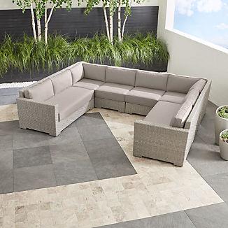 Ventura Quartz 6-Piece Loveseat Sectional with Sunbrella ® Cushions
