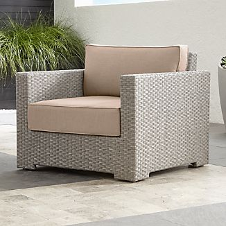Grey Wicker Chairs grey wicker outdoor furniture | crate and barrel