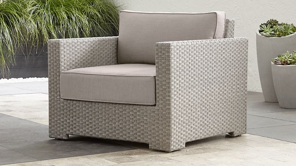 quartz lounge chair with sunbrella cushions crate and barrel
