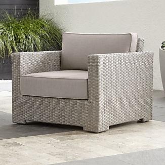 Ventura Quartz Lounge Chair with Silver Sunbrella ® Cushions