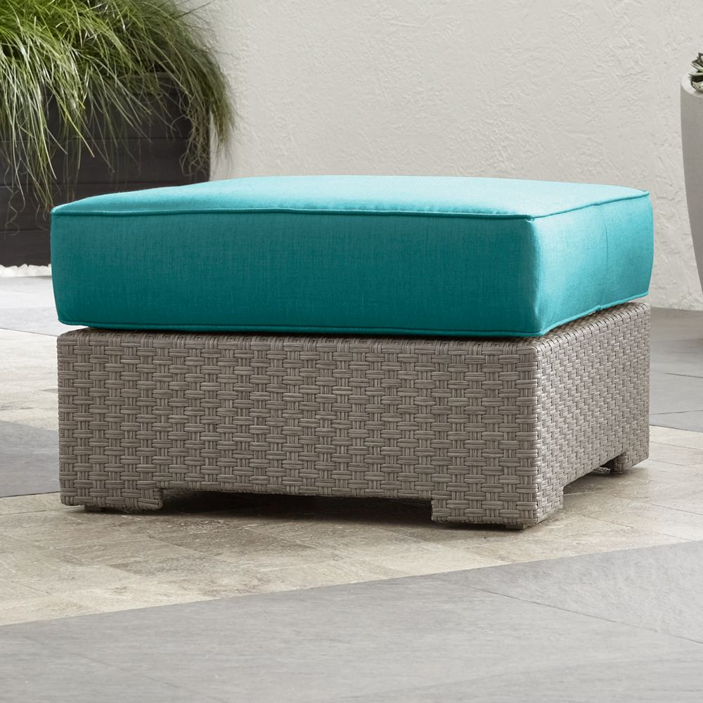 Ventura Quartz Ottoman with Sunbrella ® Cushion