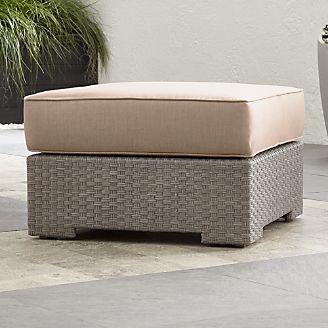Ventura Quartz Ottoman With Sunbrella ® Cushion Part 75