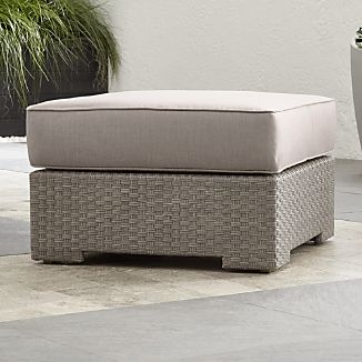 Ventura Quartz Ottoman with Sunbrella ® Cushion