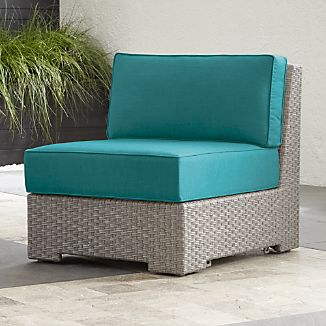 Ventura Quartz Modular Armless Chair with Sunbrella ® Cushions