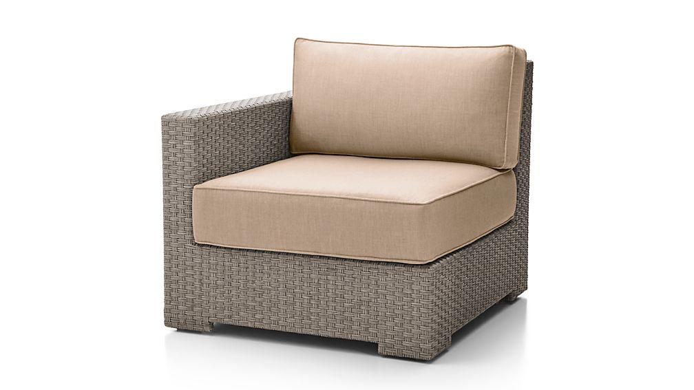Ventura Quartz Modular Left Arm Chair with Sunbrella ® Cushions