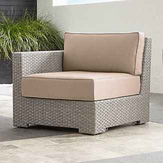 Ventura Quartz Modular Left Arm Chair with Sunbrella ® Cushions