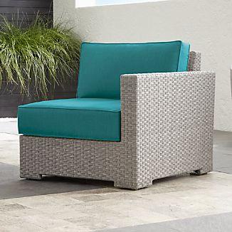 Ventura Quartz Modular Right Arm Chair with Sunbrella ® Cushions