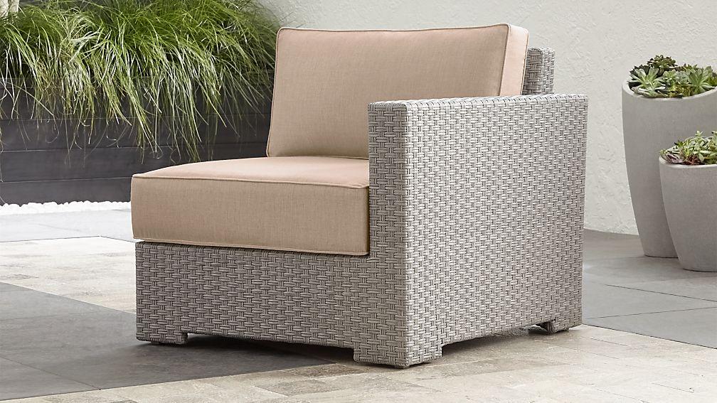 Ventura Quartz Modular Right Arm Chair with Stone Sunbrella ® Cushions - Image 1 of 5