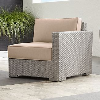 Ventura Quartz Modular Right Arm Chair with Sunbrella ® Cushions