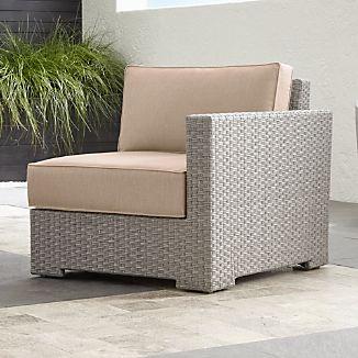 Captivating Ventura Quartz Modular Right Arm Chair With Sunbrella ® Cushions