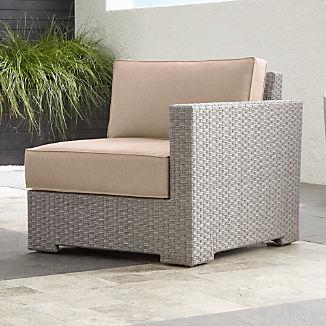Ventura Quartz Modular Right Arm Chair with Stone Sunbrella ® Cushions