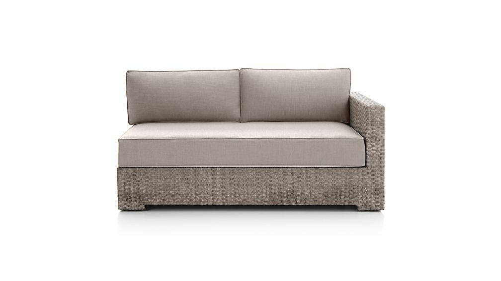 Ventura Quartz Modular Right Arm Loveseat with Sunbrella ® Cushions