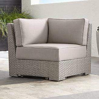 Ventura Quartz Modular Corner with Sunbrella ® Cushions