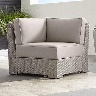 Ventura Quartz Modular Corner with Silver Sunbrella ® Cushions